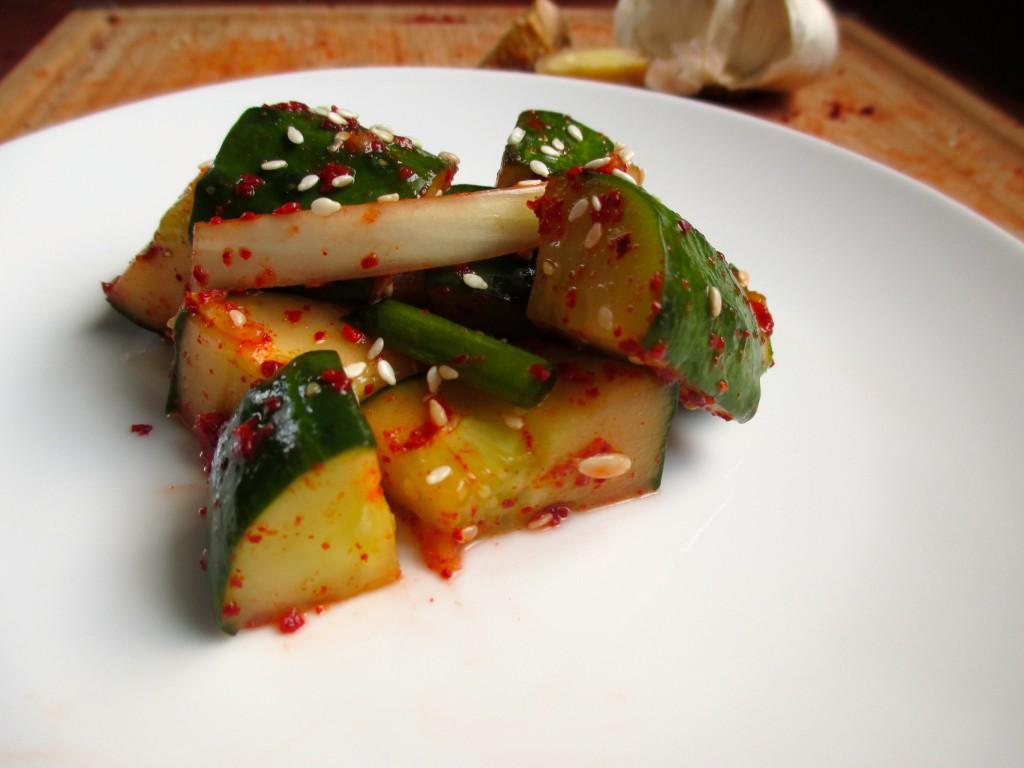 Cucumber Kimchi   918 Plate