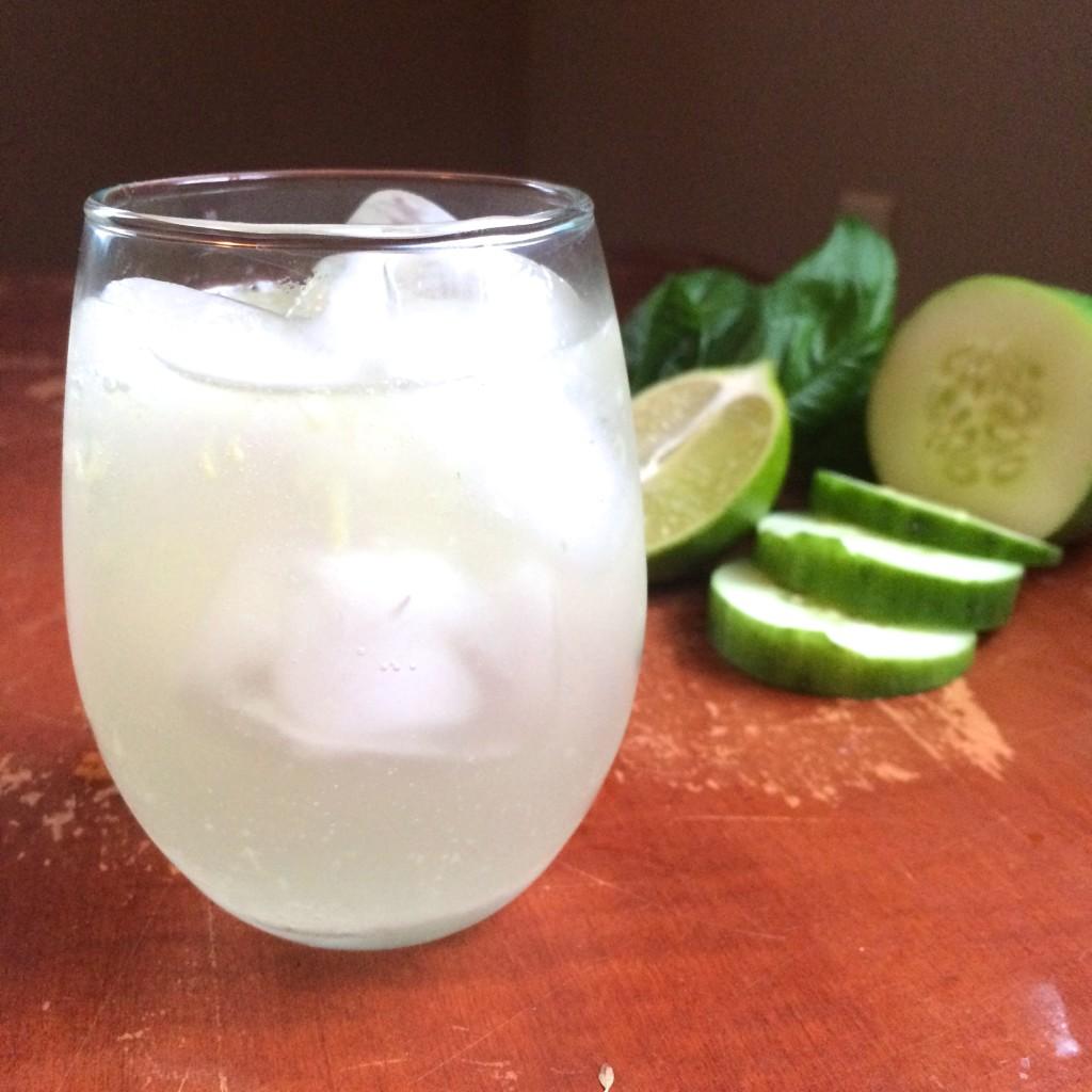 Cucumber Basil Gin Fizz | 918 Plate