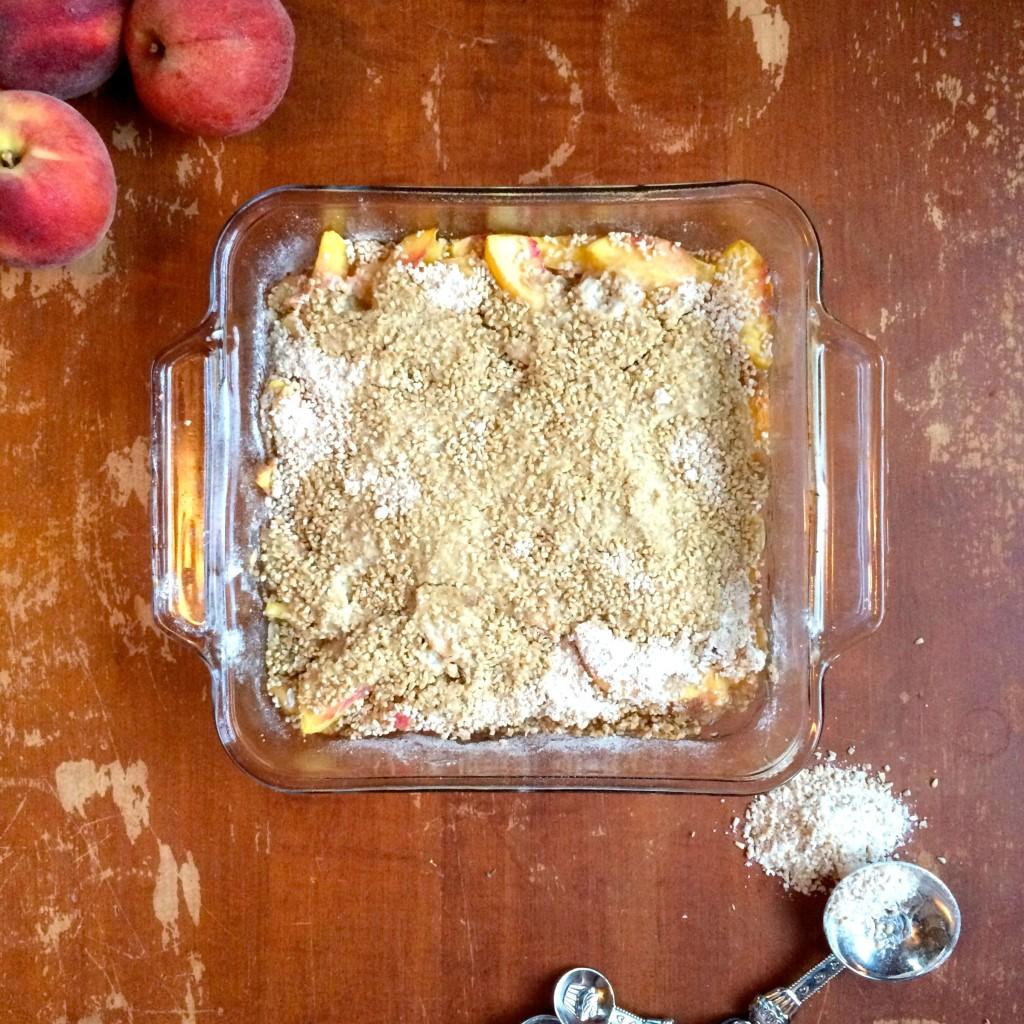 Peach Crisp   918 Plate