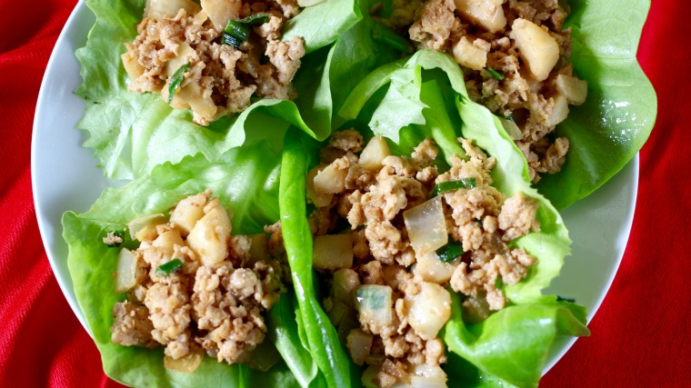 These Chicken Lettuce Wraps are a better-than PF Chang's copycat, made with homemade hoisin sauce!