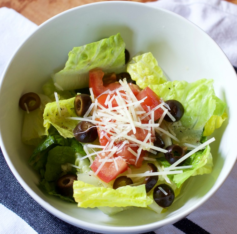 This salad is called Atomic Salad because the fresh garlic in the dressing packs a big punch! It's perfect for a quick but flavorful addition to dinner.