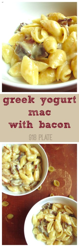 Greek Yogurt Mac and Cheese with Bacon | 918 Plate