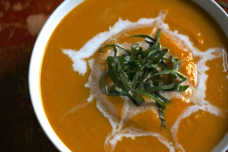 This Butternut Squash soup warms the heart with a blend of Thai spices and a coconut milk base!