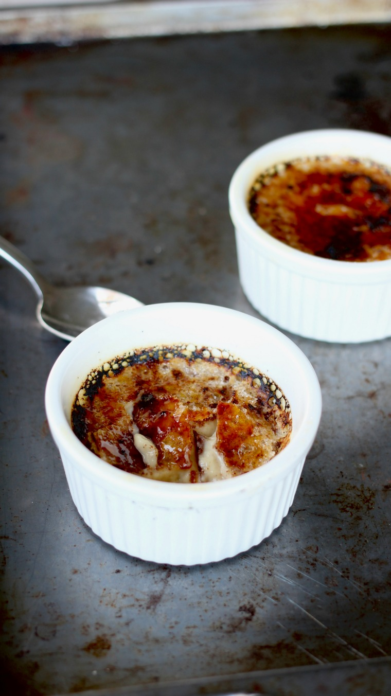 This Creme Brulee is a very simple dessert that will wow your friends and family with a creamy egg nog flavor, perfect for the holidays.