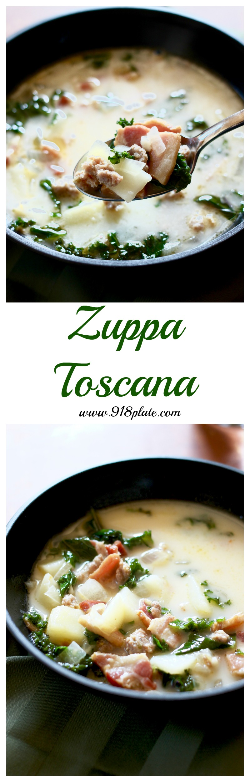 This is a better-than-Olive Garden version of Zuppa Toscana - complete with local food flair.