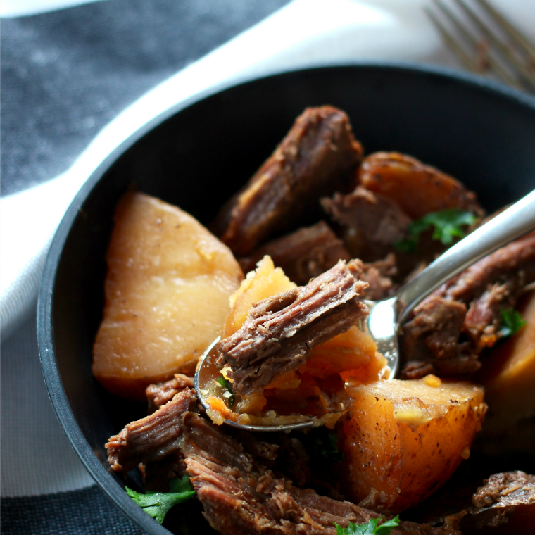 Pot Roast cooked in soy sauce is a great way to give tons of flavor to your favorite winter dish!