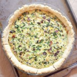 This spinach and bacon quiche will satisfy even your biggest meat eater with an easy one-dish dinner!