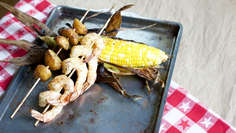 This is like your favorite shrimp boil, but you don't have to heat up your stove – it's grilling season!
