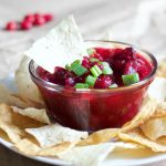 This spicy sweet cranberry salsa will have you licking the bowl whether you're watching a game or partying with your family and friends.