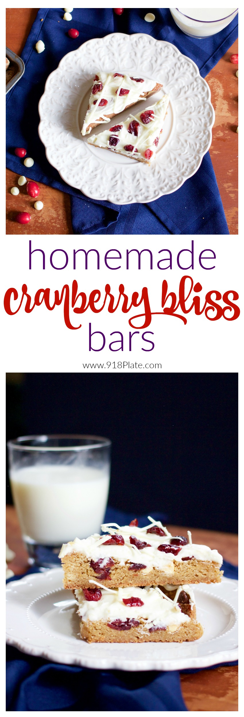 Starbucks copycat Cranberry Bliss Bars are sweet cookie bars flavored with fruity goodness!