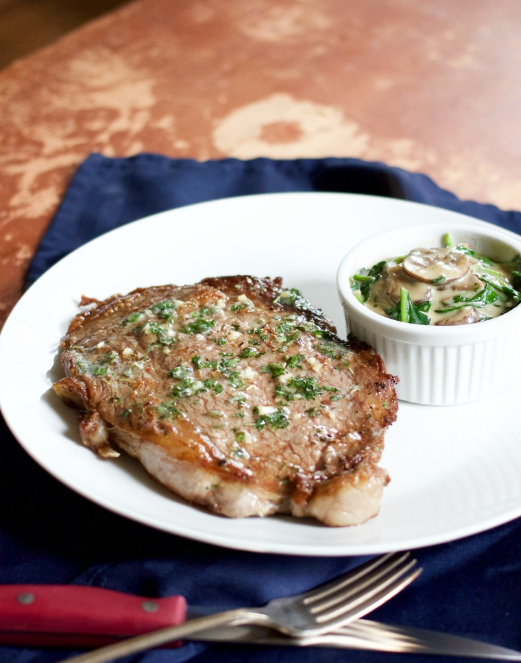 Impress your love with a restaurant-style steak dinner with creamed spinach for a classy at-home date night!