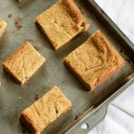 Blondies, or blonde brownies, are like a giant chocolate chip cookie to share, and they come together really quickly!