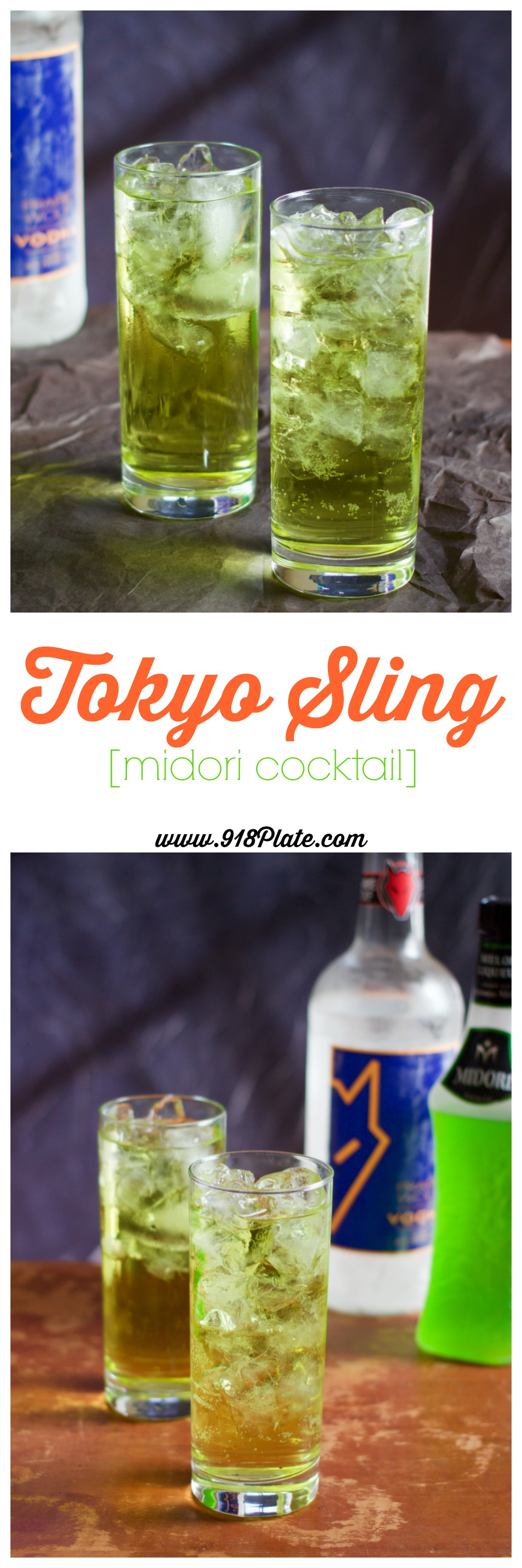 "This ""Tokyo Sling"" cocktail is bright and sunny, ready to usher in all that spring and summer have to offer!"