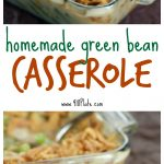Homemade Green Bean Casserole uses more than just the soup can, and will taste great now and even better the next day!
