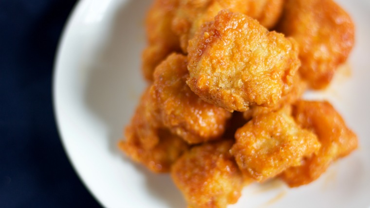 This recipe for double breaded boneless buffalo bites has a mouthful of a name and will also be keeping your mouth full!