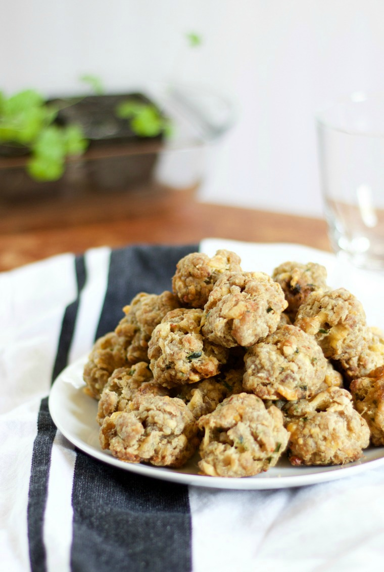 These gluten free sausage balls taste just like the classic - crunchy on the outside and a little spicy!