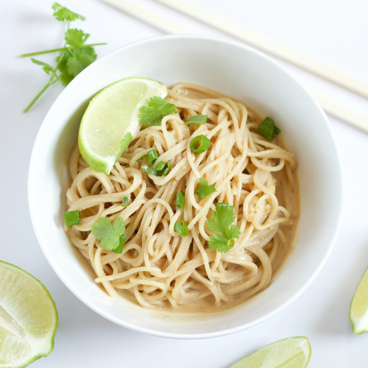 These easy peanut noodles are fast and served cold for a fresh tasting lunch or dinner!