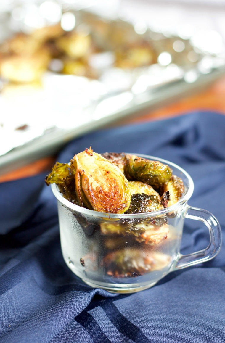 Balsamic Brussels sprouts are crispy, tangy and a great side vegetable!