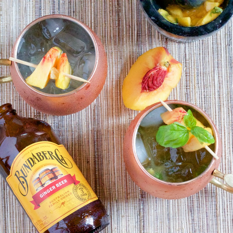 Here's a local twist on a summer favorite: the Peach and Basil Moscow Mule, made complete with Porter peaches, homegrown basil and a ginger beer with a kick!