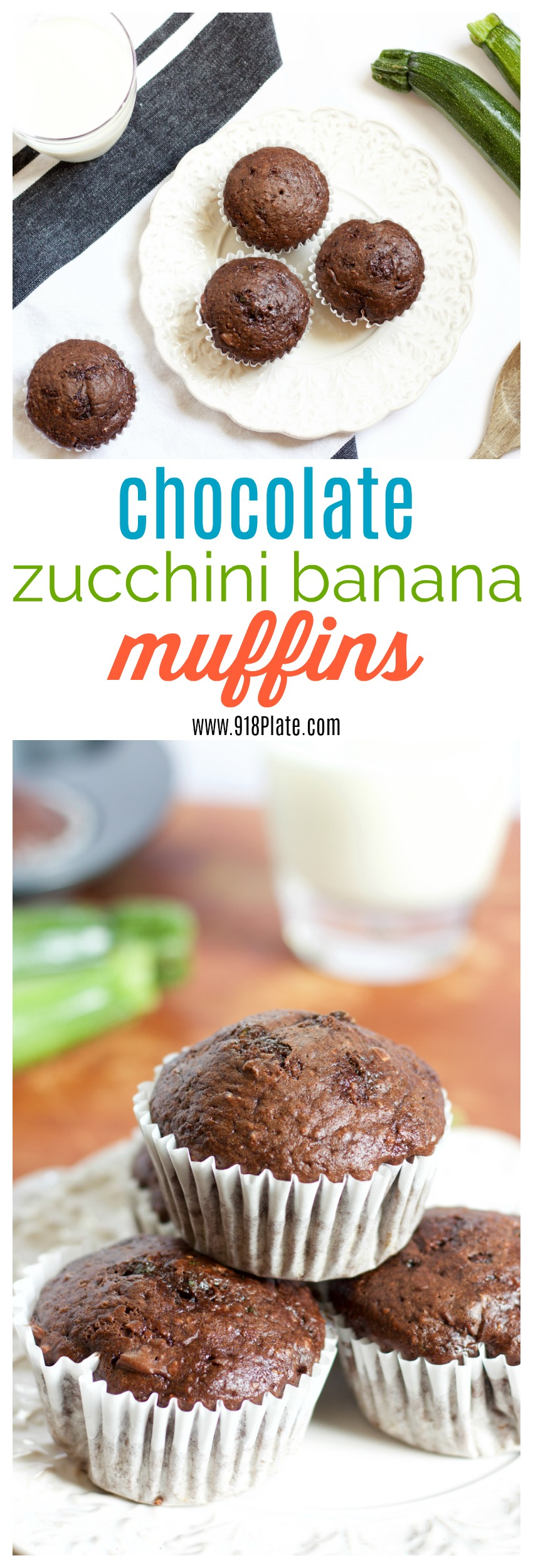 These chocolate zucchini banana muffins are filling, tasty, and have a touch of sweetness to satisfy your chocolate craving.