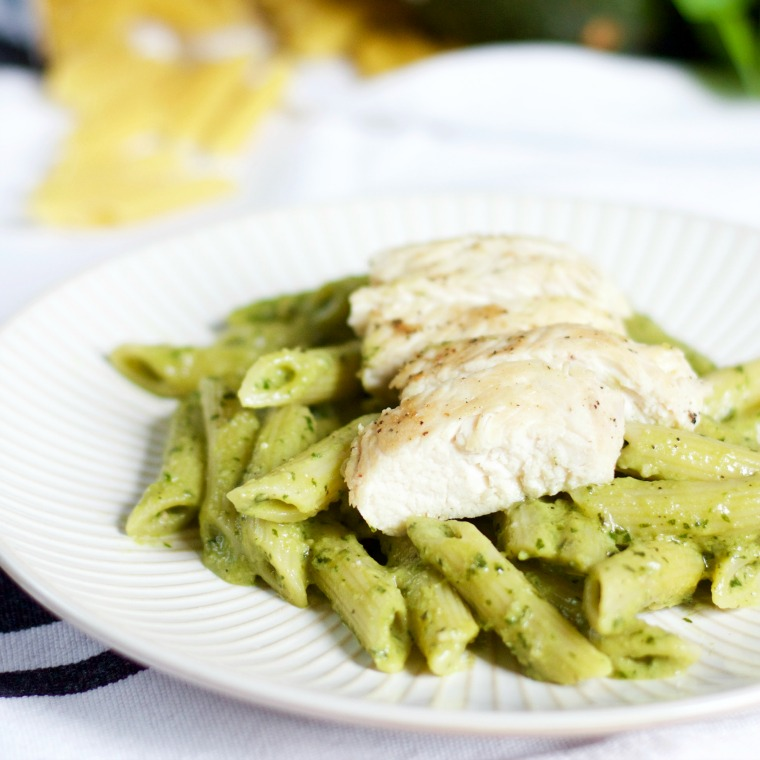 Avocado pesto is creamy, fresh and delicious - a great way to get in your healthy fats and keep you full!