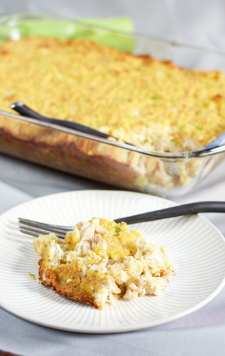 Chicken Cornbread Dressing | 918 Plate - My great grandmother's chicken cornbread dressing is the perfect side dish to your holiday feast, and even a complete meal on its own!