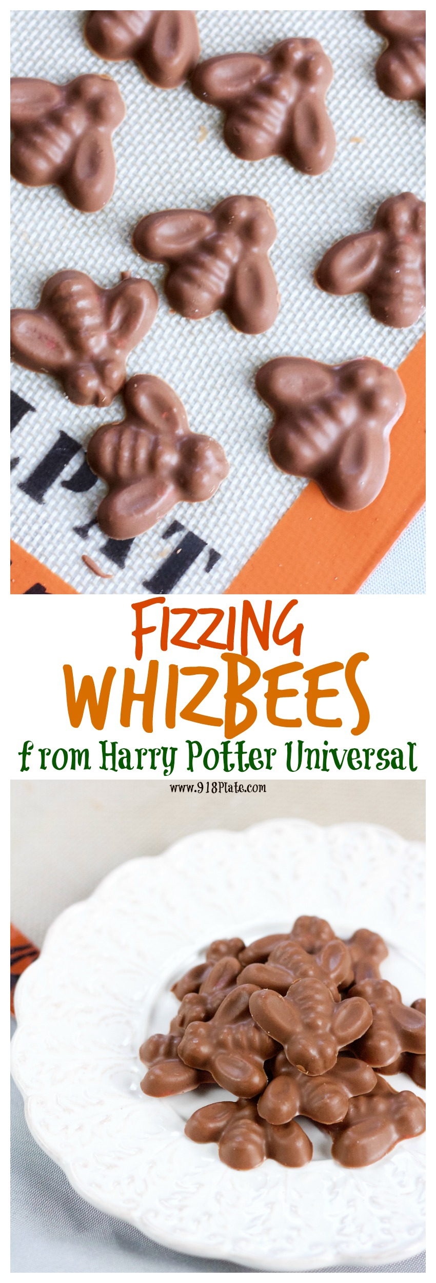 Fizzing Whizbees are a Harry Potter treat that you can make on your own and taste just like the real thing! | Fizzing Whizbees | 918 Plate