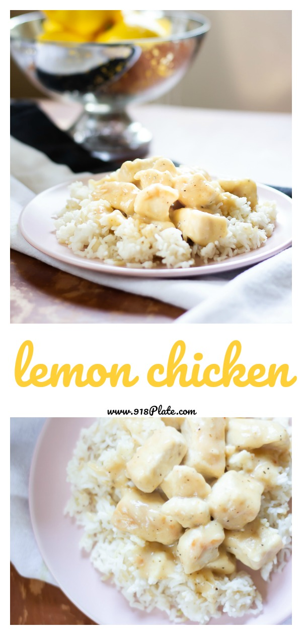 Lemon Chicken | 918 Plate | modifiable for dairy free | #weeknightdinner | #easydinner