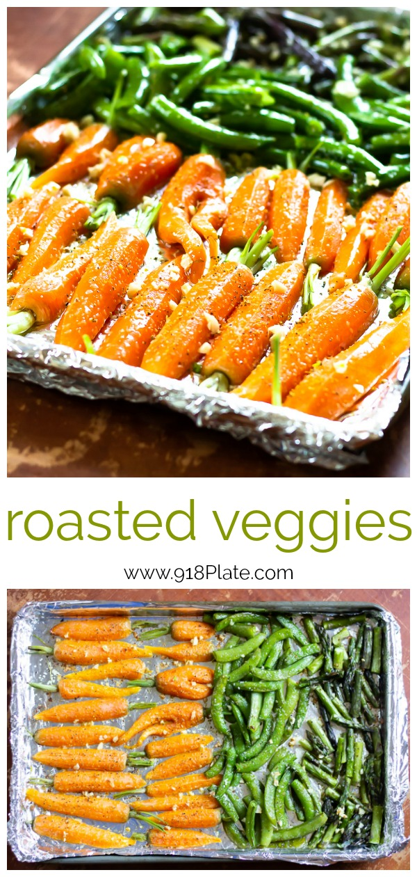 Roasted veggies are a great way to feed a crowd for a delicious side option! | 918 Plate | Vegan | Gluten Free | Dairy Free