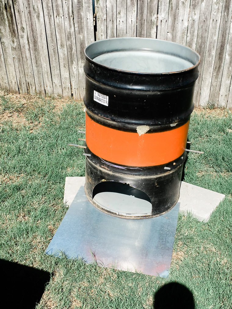 burn barrel for heating coals