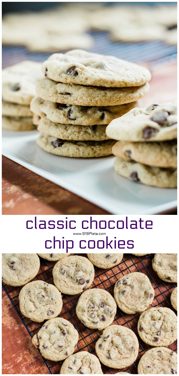 Mama Laurie's Chocolate Chip Cookies | 918 Plate | classic chocolate chip cookie recipe | baking