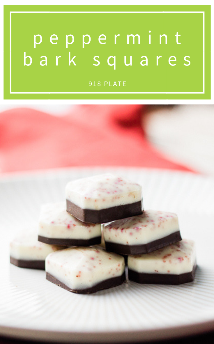 This copycat Ghirardelli Peppermint Bark is made from high-end local chocolate to elevate this treat you can make at home! | 918 Plate | #glutenfree | #vegetarian | #candymaking | #chocolate | #holidaygifts