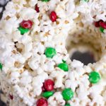 a close up view of the popcorn cake in a ring
