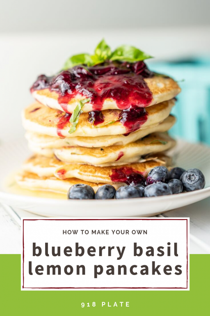Blueberry Lemon Basil Pancakes | 918 Plate